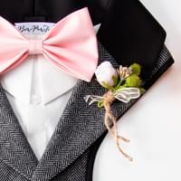 Embellish the harness with a boutonniere